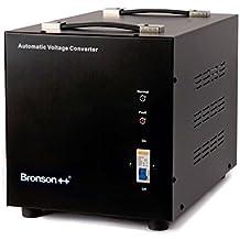 Bronson++ AVT 3000 - Transformador de 110/120 Voltios Convertidor de Voltaje EE.UU. - 3000 Vatios - Núcleo Toroidal Elevador / Reductor - Bronson 110V 120V 3000W