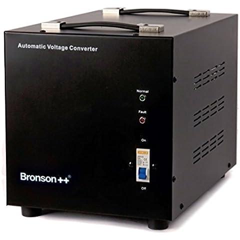 Bronson++ AVT 3000 - Convertitore di tensione 110/120 Volt - Trasformatore di voltaggio USA - 3000 Watt - Riduttore a nucleo toroidale - Bronson 110V 120V 3000W