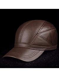 HAPPY-HAT Gorra de béisbol para Hombre, Casquillo de Cuero Casual, otoño e