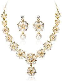 WAAH WAAH Multilayer Elegant White Pearl Choker Necklace For Women (8-NE00-WP-1142N)