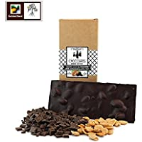 Chocolate negro almendras sin azúcar artesano