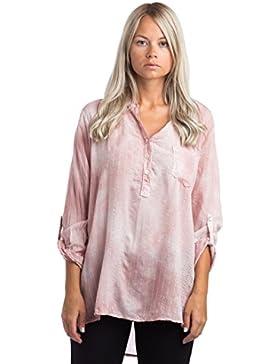 [Patrocinado]Abbino 68012 Blusas Tops para Müjer - Hecho en ITALIA - 7 Colores - Verano Otoño Invierno Mujeres Femeninas Elegantes...