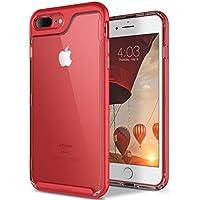 Funda iPhone 8 Plus, Funda iPhone 7 Plus, Caseology [serie Skyfall] cubierta protectora transparentee clara delgada antiaranazos con marco protector [Rojo - Red] para Apple iPhone 7 Plus (2016) / iPhone 8 Plus (2017)
