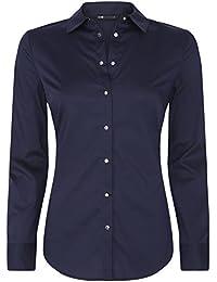 oodji Collection Mujer Camisa de Algodón con Botones Metálicos a Presión