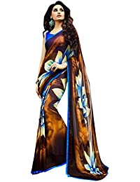 LORD'S Georgette Saree(SBY6117_Multi_Free Size)