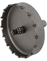 Tradico® 85mm Cutting Dia 6mm Twist Drilling Bit TCT Straight Shank Hole Saw Gray