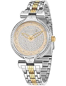 Just Cavalli Damen-Armbanduhr Analog Quarz Edelstahl R7253579503