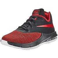 Nike AIR MAX INFURIATE III LOW, Men's Basketball Shoes, Black (Black/University Red-White 003), 8.5 UK (43 EU)