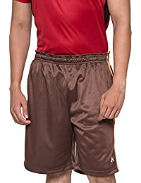 Acetone Solid Men's Running Shorts( Coffee _30)
