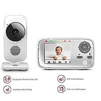Motorola MBP483 2.8 İnç LCD Dijital BebeK Kamerası, Beyaz
