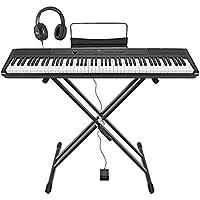 SDP-2 Piano de Scène Numérique par Gear4music + Stand Pédale et Casque