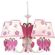 Lampadario farfalle rosa for Lampadario amazon