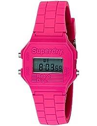 Superdry Mini Retro Digi Digital Pink Dial Women's Watch - SYL201P