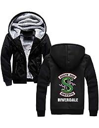 Aivosen Riverdale Chaquetas con Capucha Otoño Invierno Chaqueta de Béisbol Casuales Abrigo Deportivo Hipster ...