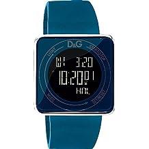 D&G DW0736 - Reloj Unisex movimiento de cuarzo con correa de caucho azul