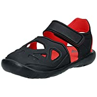 adidas Fortaswim 2 I, Unisex Babies' Sandals, Black (Core Black/Hi-Res Red S18), 27 EU