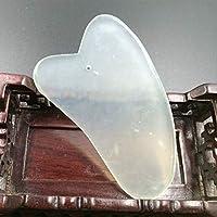 DEBEME Jade raspado de la placa facial Rodillo de jade masaje de la belleza natural de la cara de piedra Maquillaje Herramienta