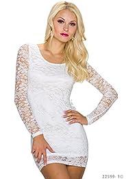 Kurzes weißes attraktives Sommerkleid, Party-Kleidchen