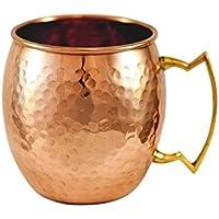 Zap Impex® Pure Copper Moscow Mule Cup, sin recubrimiento, cobre martillado, ideal para entretener cualquier bebida fría deslumbrante y bar o en casa, gran regalo de bar