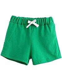 Pantalones cortos para niñas, niños, BBsmile pantalones de verano para niños y bebés, pantalones cortos de algodón para niños y niñas