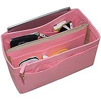 [Passt Neverfull MM / Speedy 30, Pink] Filz-Organizer (mit abnehmbaren mittleren Zipper Bag), Tasche in Tasche, Wolle Geldbörse einfügen, individuelle Tote organisieren, Kosmetik Make-up Windel Handtasche