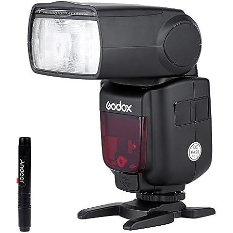 GODOX TT685N i-TTL 2.4G Maestro-esclavo Flash linterna Speedlite Inalámbrico Sistema de Radio para Nikon D5200 D7000 D7100 D5000 D5100 D3200 + Andoer® Pluma de
