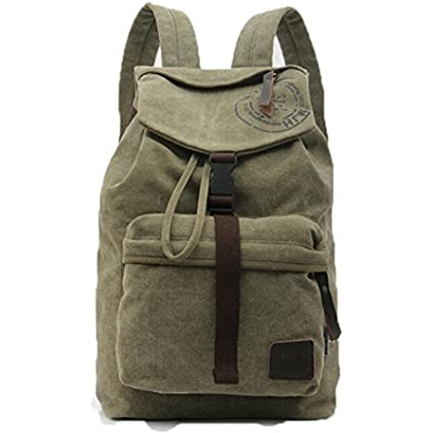 Unisexo Hombre mujer Clasico Lona Laptop Backpack Rucksack Mochila Escolar para Uso Diario /Escolar/Oficina/viajes/Calle/ Mochila de Senderismo