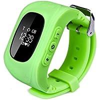 Neelam® Bambini Smartwatch GPS Tracker Orologio da polso con due vie di comunicazione/Geo-fence/SOS sorveglianza/contapassi/allarmi/Voice Remote Monitor/Off–Parent controllo remoto da smartphone