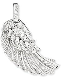 Engelsrufer ala colgante para las mujeres 925 Sterling Silver con cristales blancos 29 mm