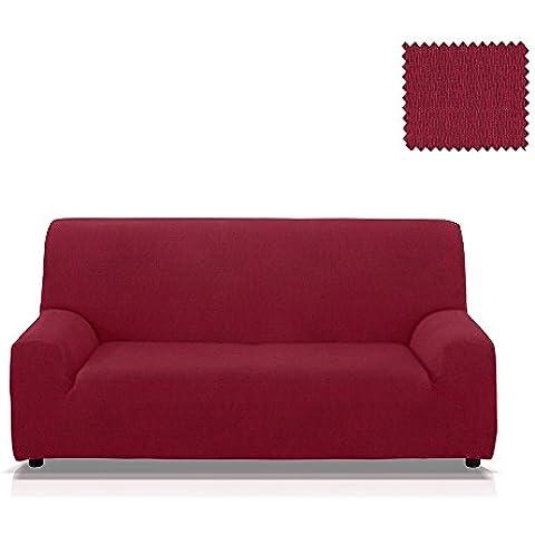 Funda de sofá elástica Minerva, Tamaño 4 plazas (de 205 a 235 Cm.), Color Rojo (varios colores disponibles)
