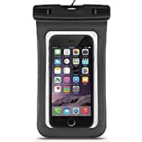 LAAT Bolsa de Teléfono Impermeable Pantalla Táctil Bolso Bolsa Impermeable para Smartphone (Negro,La Primera Imagen)