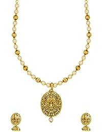 Zaveri Pearls Jewellery Set For Women (Golden) (ZPFK6359)