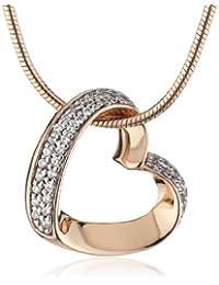Esprit Damen Halskette Silber vergoldet rhodiniert Zirkonia ESNL91579C420