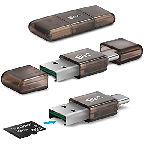 EC Technology Lector de Tarjeta de Memoria Flash de Alta Velocidad con Puerto USB 3.0 Tipo C/A a Micro SD