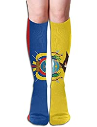Ecuador Flag Womens Fashion Knee High Socks Casual Socks