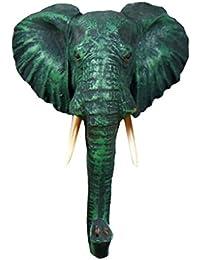 MagiDeal Adorno de Suspensión de Novedad Gancho Diseño de Cabeza de Animal Clásico - Elefante