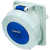 Mennekes 101100231 Bases Semi Empotrables CEE, Tomas de Corriente, 230 V, 50-60 Hz, 16 A, 3 Polos, IP 67, Azul