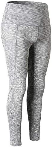 Benkeg Women High Waist Yoga Pants 4 Way Stretch Tummy Control Workout Running Fitness Yoga Pants Leggings wit