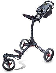 Bag Boy Tri Giratorio II Carrito de Golf, Triswivel II Push Cart - Matte Black