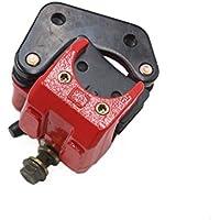 sourcingmap® Conjunto de la bomba de freno de metal rojo Accesorio de Motocicleta scooter Negro disco trasero de 125 Jog