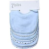 Ensemble de bavoirs doux double couches 100% coton absorbant pour bébé (7pièces)