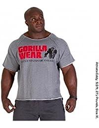 Gorilla Wear Classic Work Out Top grau Bodybuilding und Fitness Bekleidung Herren