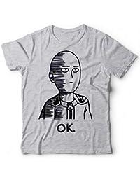 T-Shirt Saitama Tshirt One Punch Man Ok Hero Manga Anime Pop Culture  Divertente d0ad7ecfcaa