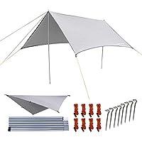 NATUREFUN Multifuncional 3x3m. Impermeable Ante Lluvia para Hamaca.Tienda de Camping, Lona para Acampar al Aire Libre, Refugio para la Playa, toldo de Sol, Mat Impermeable para Picnic