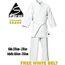 Karate 9oz poliéster-cotón uniforme de karate blanco (0/130cm)
