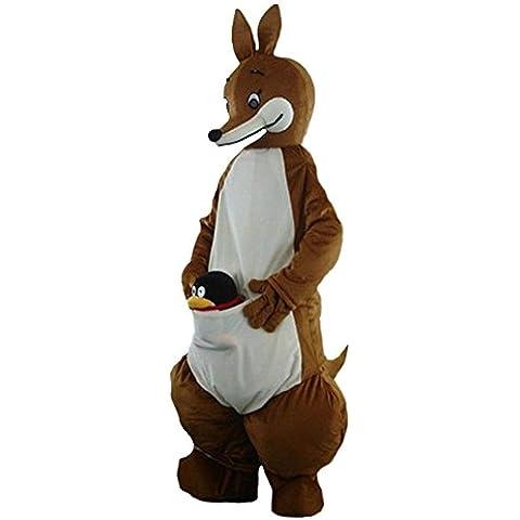 Disfraz de canguro mascota dibujos animados halloween party dress Tamaño para adultos