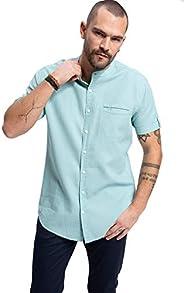 DeFacto Cepli Kısa Kollu Gömlek Erkek Günlük Gömlek