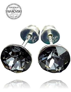 Crystals & Stones *Xirius* 925 Sterlingsilber Ohrstecker *Viele Farben* - Ohrringe mit Kristallen von Swarovski...