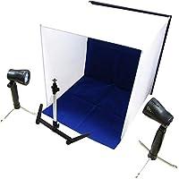 Cablematic - Estudio fotográfico portátil de 60x60x60 cm con dos focos y 4 cromas