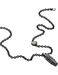 Diesel pour Homme–Collier Acier Inoxydable Gris dx0964001